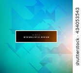geometric vector background.... | Shutterstock .eps vector #434053543
