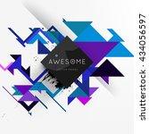 geometric vector background.... | Shutterstock .eps vector #434056597
