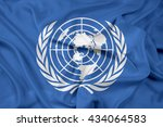 waving flag of united nations | Shutterstock . vector #434064583