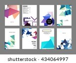 abstract background. geometric... | Shutterstock .eps vector #434064997