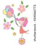 girl | Shutterstock .eps vector #434066773