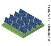 Blue Solar Panels. Flat...