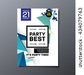 party flyer template vector