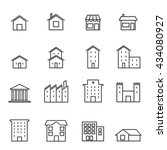 house building line icon   ... | Shutterstock .eps vector #434080927
