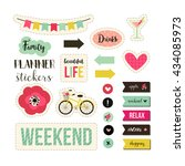 planner stickers. signs ... | Shutterstock .eps vector #434085973