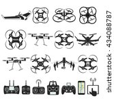 set of aerial drone footage... | Shutterstock . vector #434088787