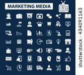 marketing media icons  | Shutterstock .eps vector #434091163