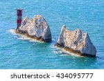the needles in isle of wight  | Shutterstock . vector #434095777