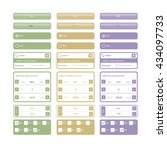 vector web elements and buttons ...