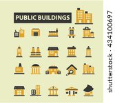 buildings icons  | Shutterstock .eps vector #434100697