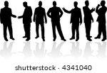 businessman  vectors work | Shutterstock .eps vector #4341040