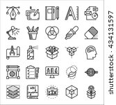 graphic design thin line icons...
