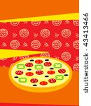 pizza vector illustration. | Shutterstock .eps vector #43413466