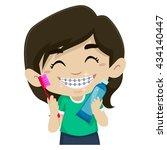 vector illustration of little... | Shutterstock .eps vector #434140447