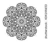 vector beautiful deco... | Shutterstock .eps vector #434144653