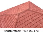 Orange Roof Tiles Isolated On...