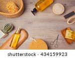 spa background with soup and... | Shutterstock . vector #434159923