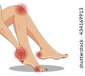 slender female legs  sitting... | Shutterstock .eps vector #434169913