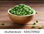 Fresh Green Pea In Bowl On...