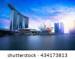 Marina Bay Singapore At Dusk ...