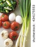 assortment of fresh vegetables... | Shutterstock . vector #434175553