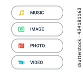set of the web buttons in... | Shutterstock .eps vector #434181163