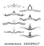 set of page decoration line... | Shutterstock .eps vector #434189617