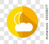 cloud and moon icon. weather...