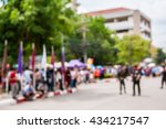 abstract blurred of people on... | Shutterstock . vector #434217547