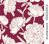 seamless floral pattern with... | Shutterstock .eps vector #434223313