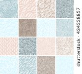 set of 16 seamless patterns ... | Shutterstock .eps vector #434228857