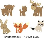 baby forest animals | Shutterstock .eps vector #434251603