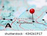Xuzhou Pinned On A Map Of China