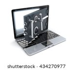 abstract laptop secure  done in ... | Shutterstock . vector #434270977