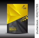 yellow and black cover design... | Shutterstock .eps vector #434272783