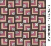 vector geometric seamless...   Shutterstock .eps vector #434276143
