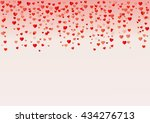 colorful background with heart... | Shutterstock .eps vector #434276713
