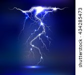 Vector Lightning   Isolated On...