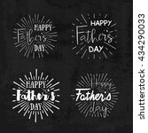 happy father's day calligraphic ... | Shutterstock .eps vector #434290033