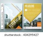 flyers design template vector.... | Shutterstock .eps vector #434295427