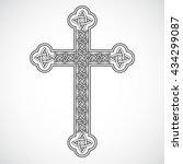 silhouette celtic ornament... | Shutterstock .eps vector #434299087