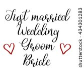 wedding calligraphy signs... | Shutterstock .eps vector #434301283
