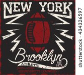 new york  sport wear typography ... | Shutterstock .eps vector #434326597