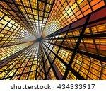 3d rendering of a glowing...   Shutterstock . vector #434333917