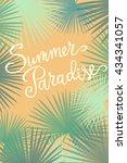 summer paradise  hand written... | Shutterstock .eps vector #434341057
