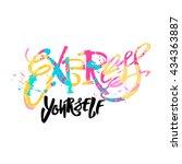 express yourself concept hand...   Shutterstock .eps vector #434363887