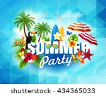 summer  party banner. text... | Shutterstock .eps vector #434365033