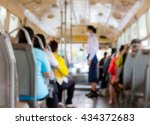 abstract blurred the people on... | Shutterstock . vector #434372683
