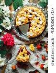 homemade cherry and strawberry  ...   Shutterstock . vector #434381707