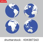 planet globe earth icon.vector... | Shutterstock .eps vector #434387263